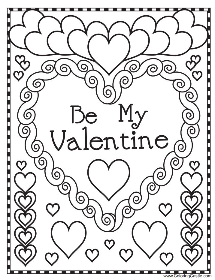 detailed valentines coloring pages