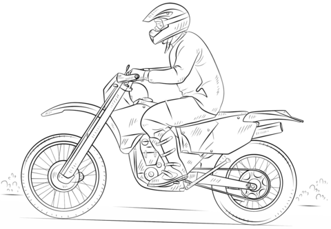 dirt bike coloring page free printable coloring pages