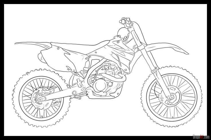 dirt bike coloring pages for kids 5501 pics to color