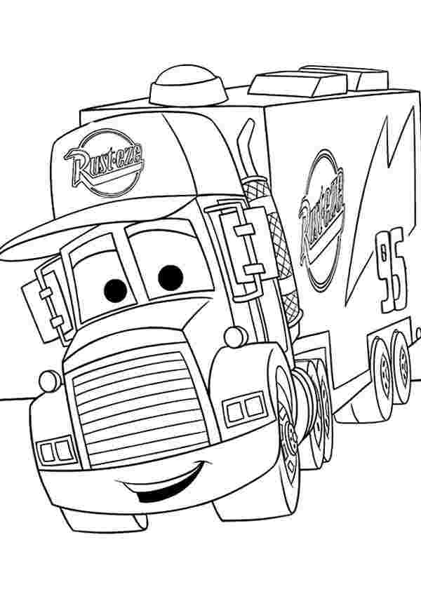 disney cars 2 coloring pages printable mack from disney cars