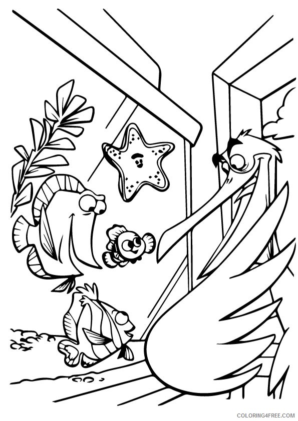 disney finding nemo coloring pages coloring4free