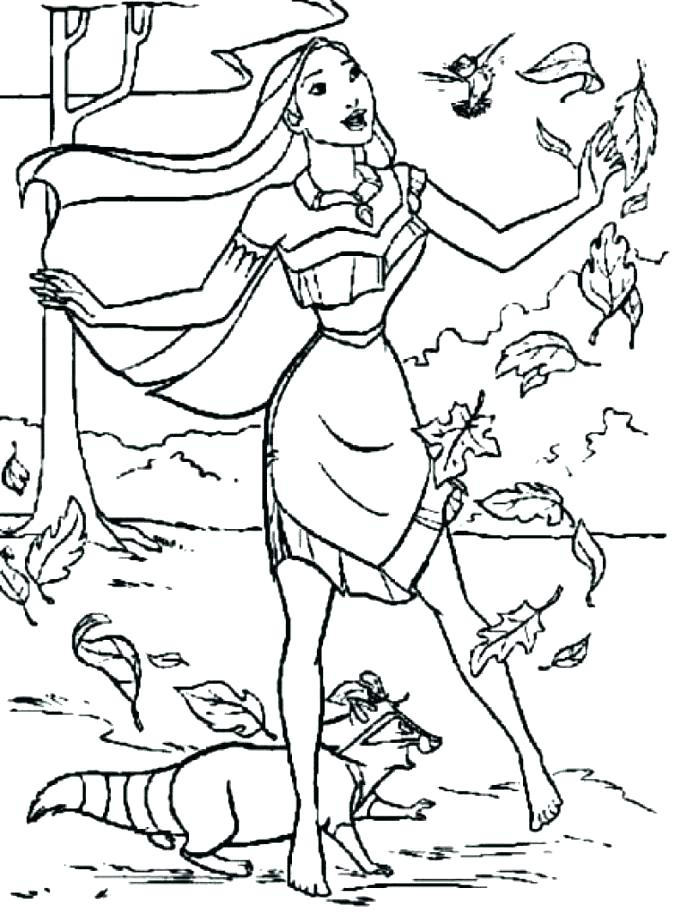 disney princess coloring pages pocahontas at getdrawings