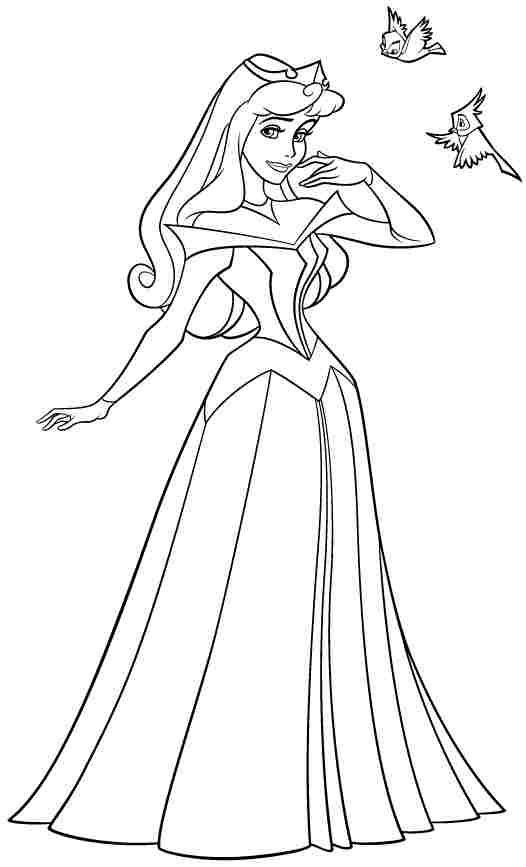 disney princess sleeping beauty aurora colouring pages free