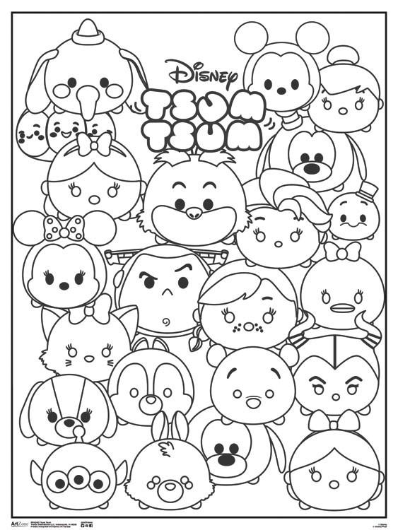 disney tsum tsum coloring pages at getdrawings free