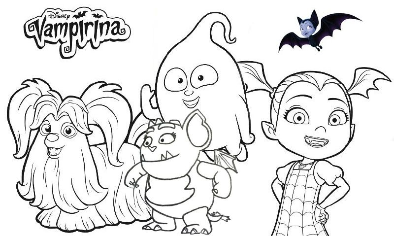 disney vampirina coloring page collection fathers day