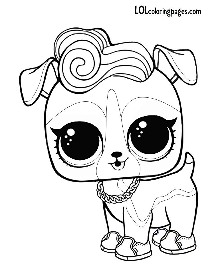 dj k9 lol surprise doll pet coloring page coloring pages