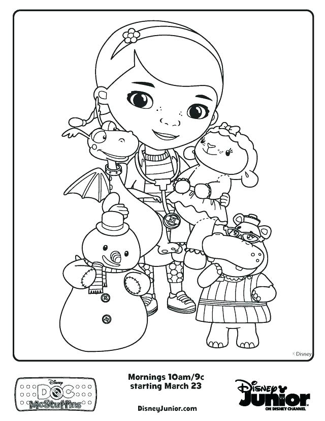 doc mcstuffins color pages printable colouring coloring to