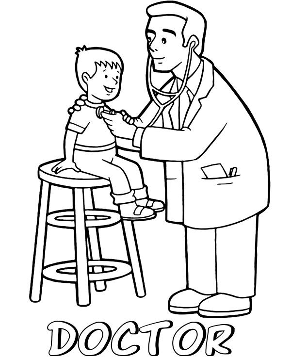 doctor coloring page pediatrician printable image