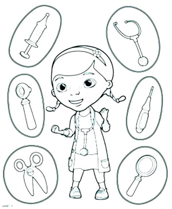 doctor coloring pages for preschool at getdrawings