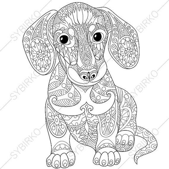 dog coloring pages for adults at getdrawings free for