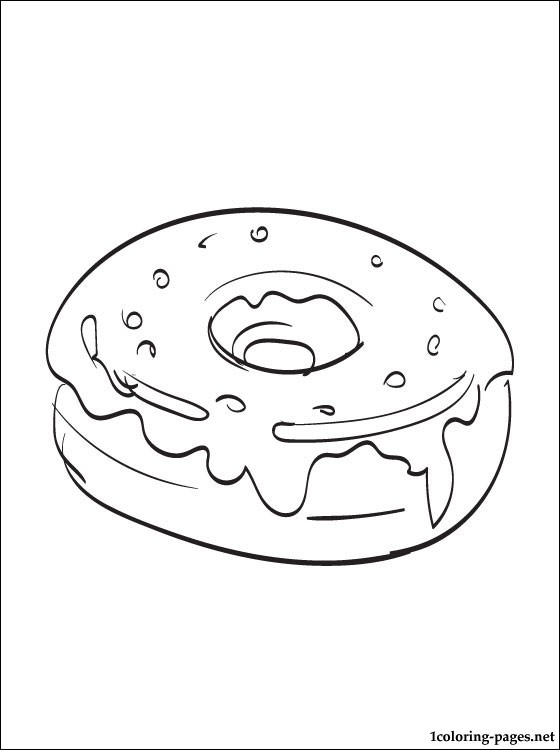 donuts coloring page coloring pages