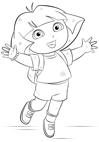 dora coloring page free printable coloring pages