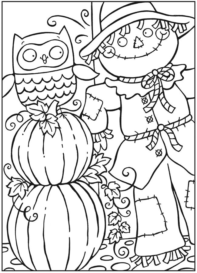 dover publications free sample page from owls coloring