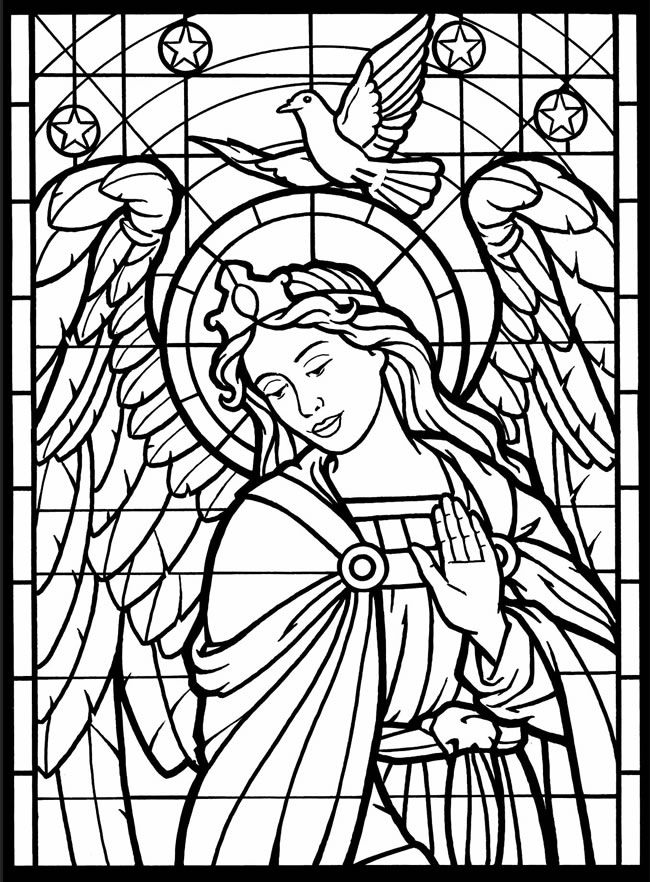 dover stained glass coloring pages dover publications you