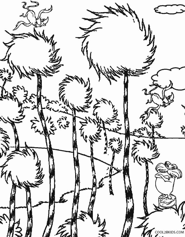 dr seuss coloring pages printable new printable lorax