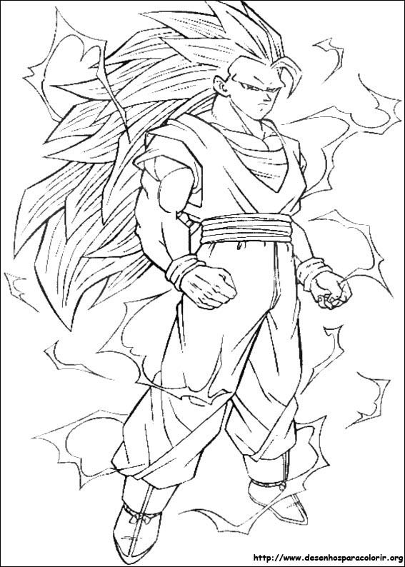 dragon ball z 172 cartoons printable coloring pages