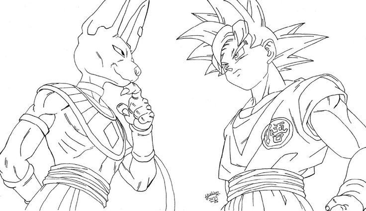 dragon ball z coloring pages goku super saiyan 5 at