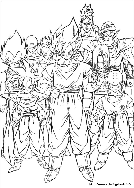 dragon ball z coloring pictures dragon ball z coloring pages
