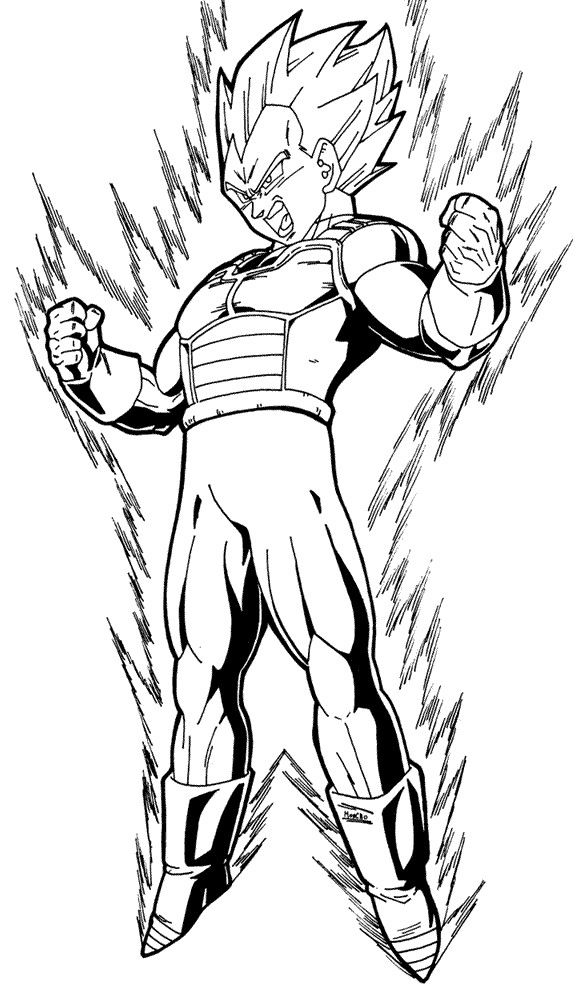 dragon ball z vegeta super saiyan coloring pages desenhos