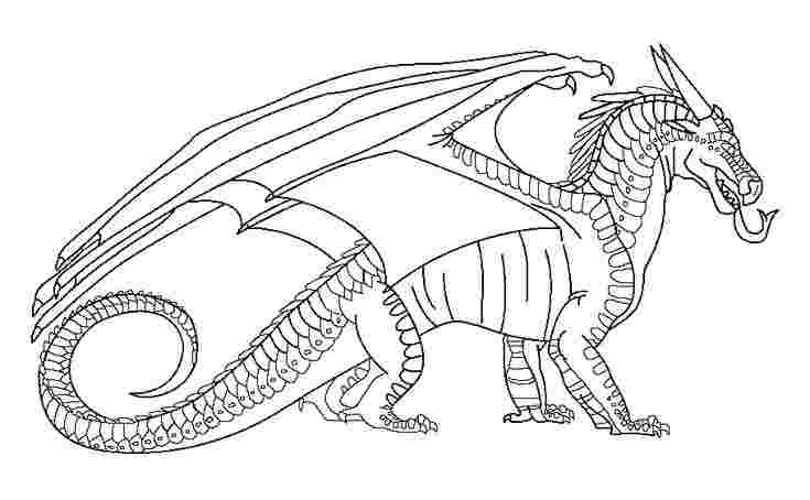 dragon coloring pages wings of fire rainwing dragon from