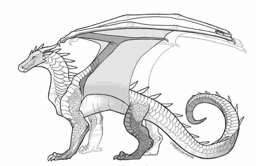 dragon coloring pages wings of fire wings of fire dragon