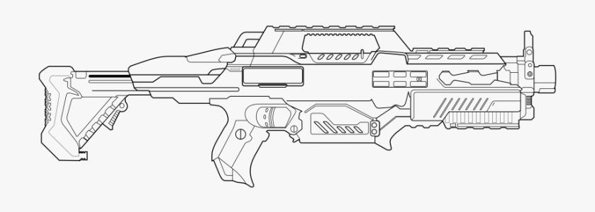 drawn sniper nerf gun nerf gun coloring pages