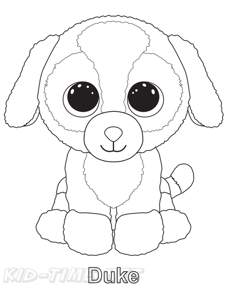 duke dog beanie boo coloring book page free coloring book