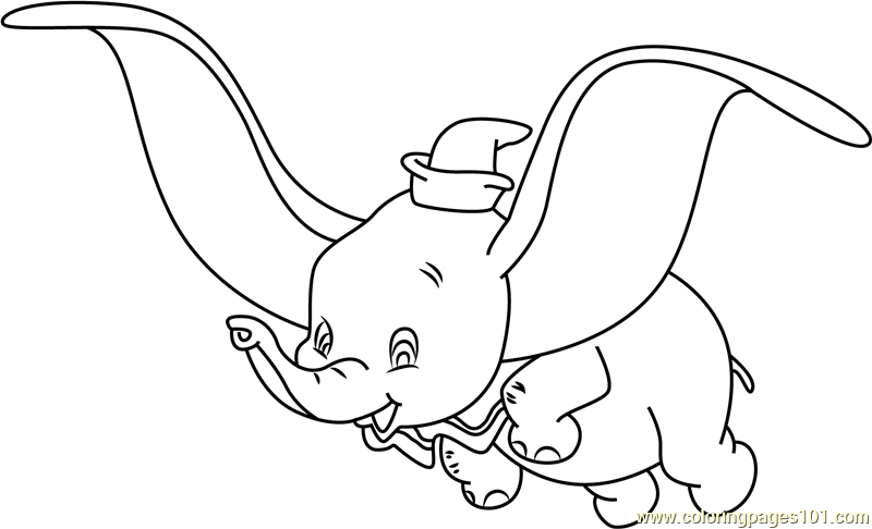 dumbo coloring page free dumbo coloring pages