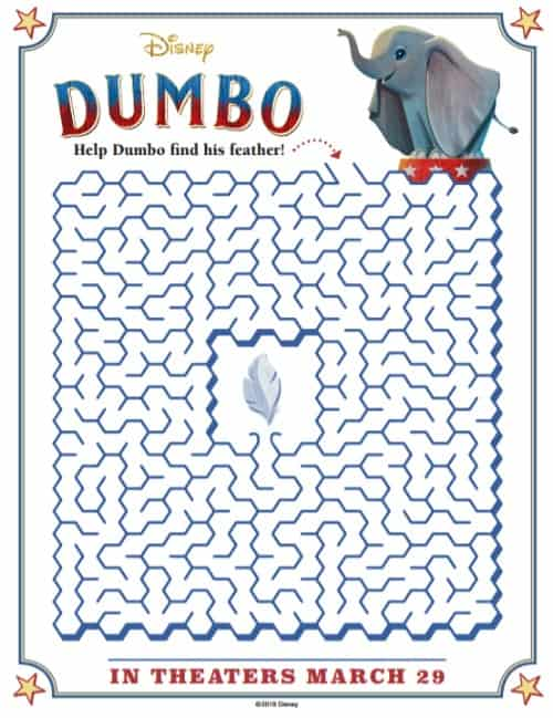 dumbo coloring pages and activity sheets fun money mom