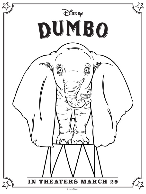 dumbo coloring pages free printables april golightly