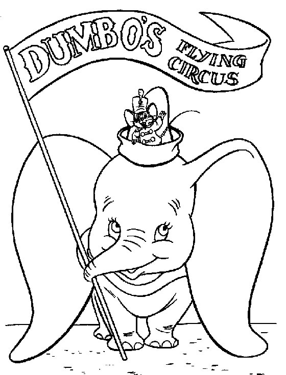 dumbo free to color for children dumbo kids coloring pages