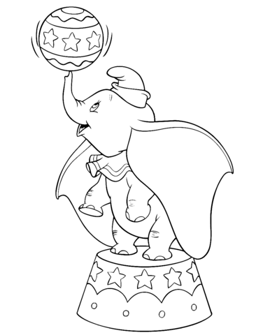 dumbo in the circus coloring page free printable coloring