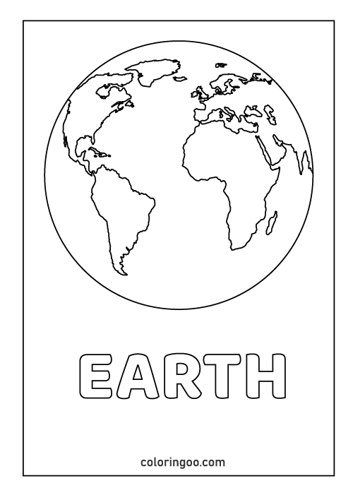 earth coloring pages pdf