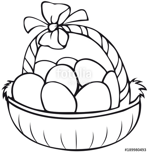 easter basket coloring page stockfotos und lizenzfreie