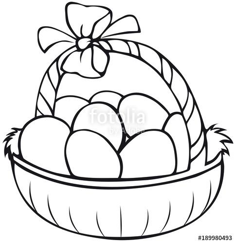 easter basket coloring page stockfotos und lizenzfreie