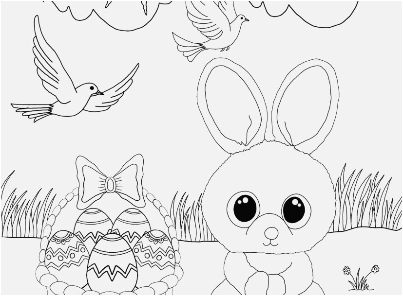 easter coloring pages pdf image free beanie boo coloring