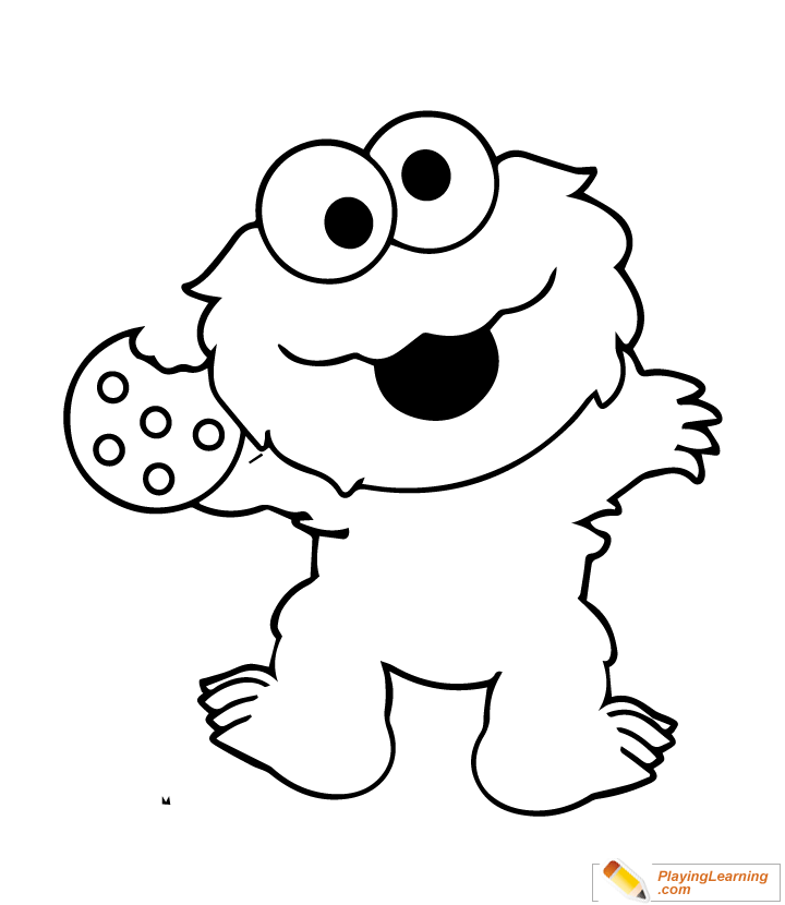 easy sesame street coloring page 07 free easy sesame