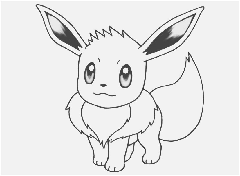 eevee coloring pages to print images pokemon printable