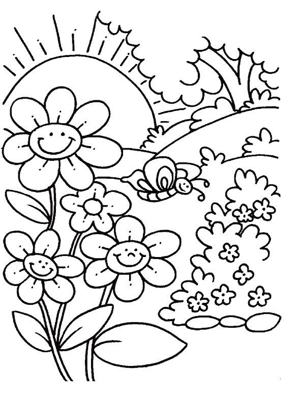 elegant printable spring coloring pages with additional