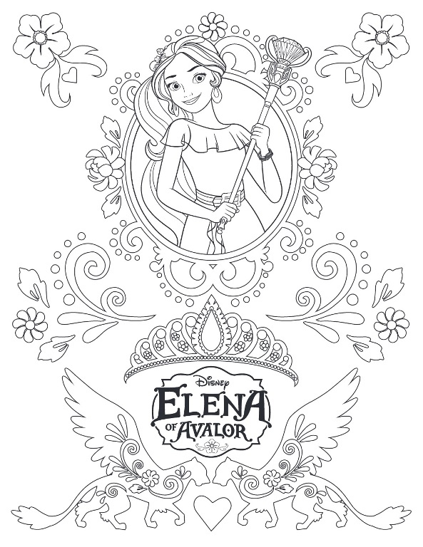 - Elena Of Avalor Coloring Pages Picture - Whitesbelfast