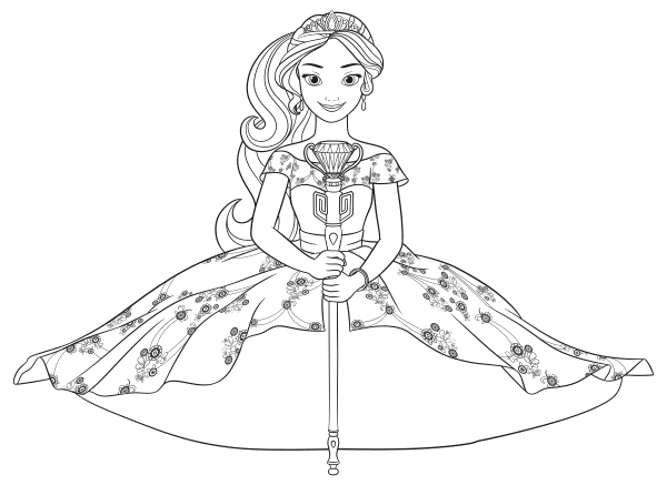 elena of avalor coloring pages disney princess coloring