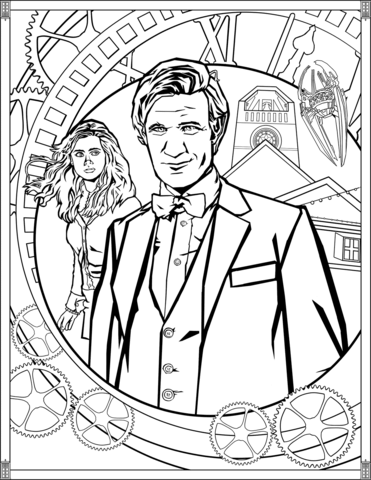 eleventh doctor coloring page free printable coloring pages