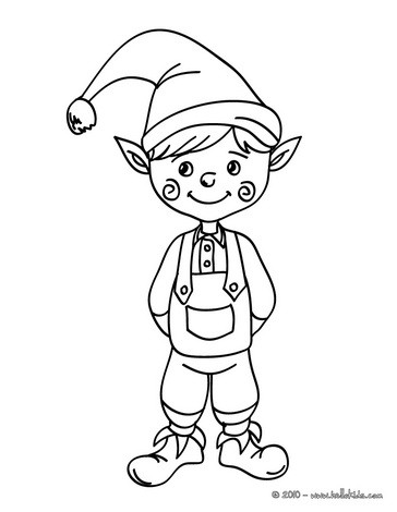 elf coloring pages drawing for kids reading learning