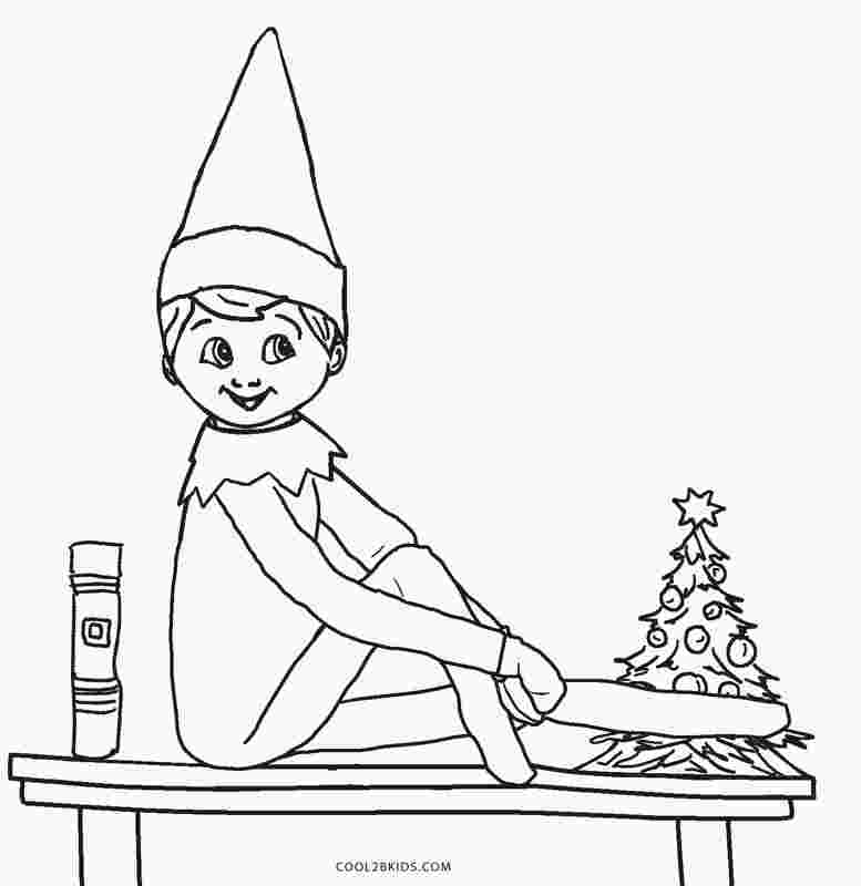 elf on the shelf coloring pages boy learning printables for