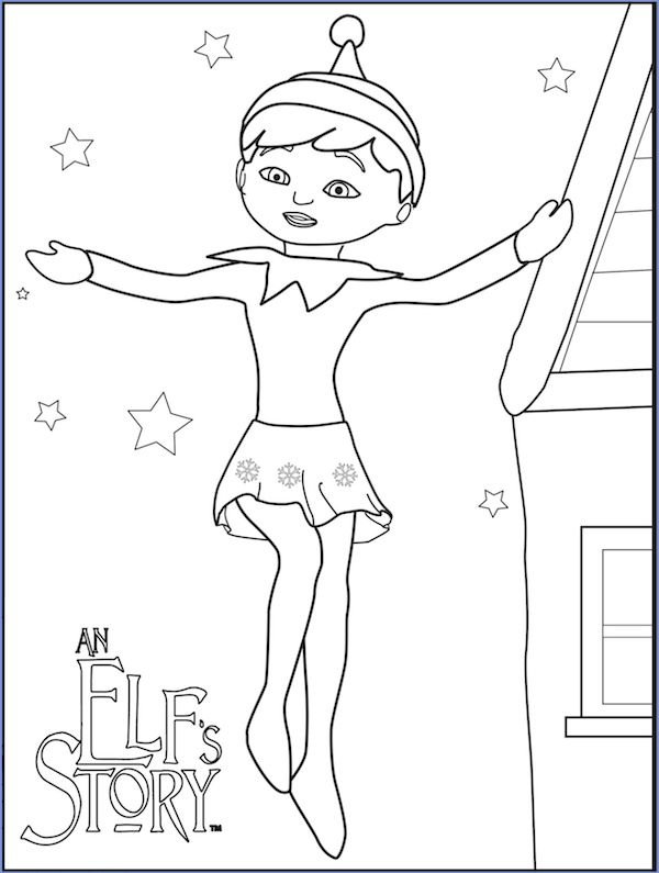 elf on the shelf coloring sheets christmas coloring pages