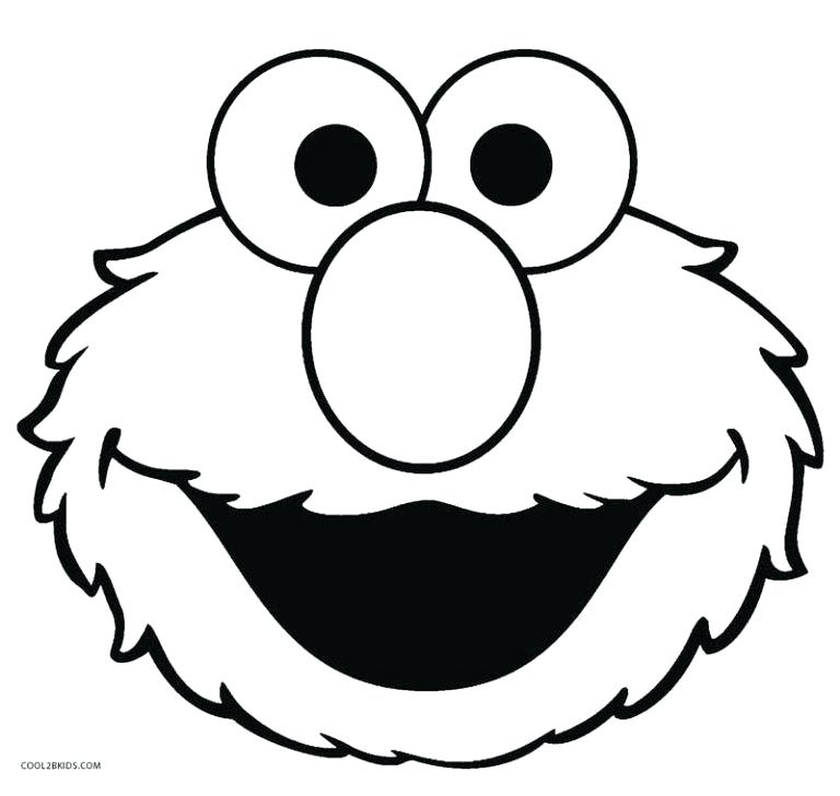 elmo face coloring pages