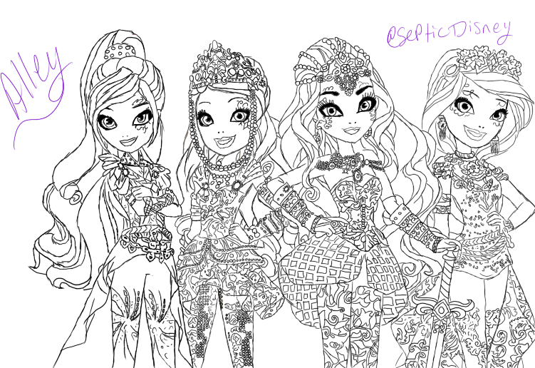 ever after high coloring pages dragon games