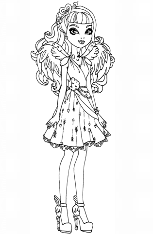 ever after high cupid ever after high coloring page free
