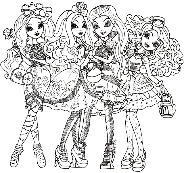 ever after high to download ever after high kids coloring