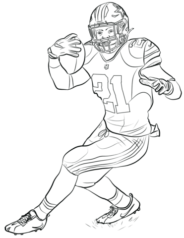 ezekiel elliott coloring page free printable coloring pages